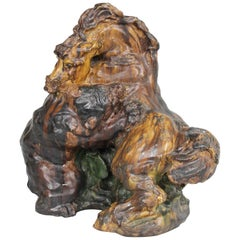 "Knud Kyhn Large Unique Ceramic Sculpture, ""Struggle For Life"", Denmark, 1916"