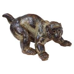 Knud Kyhn for Royal Copenhagen Ceramic Monkey Sculpture