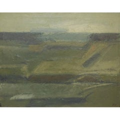 Knud Nedergaard Modernist Landscape, Oil on Canvas, 1970s