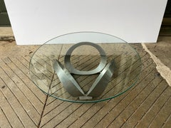 Knut Hesterberg 1970's  Glass and Alumimum Coffee Table