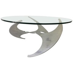 Knut Hesterberg Model Propeller Aluminum Cocktail Table