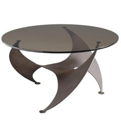 Knut Hesterberg 'Propeller' Coffee Table in Bronze and Glass