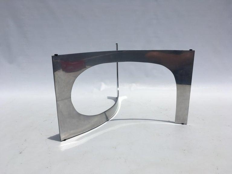 Aluminum Knut Hesterberg Sculptural Coffee Table For Sale