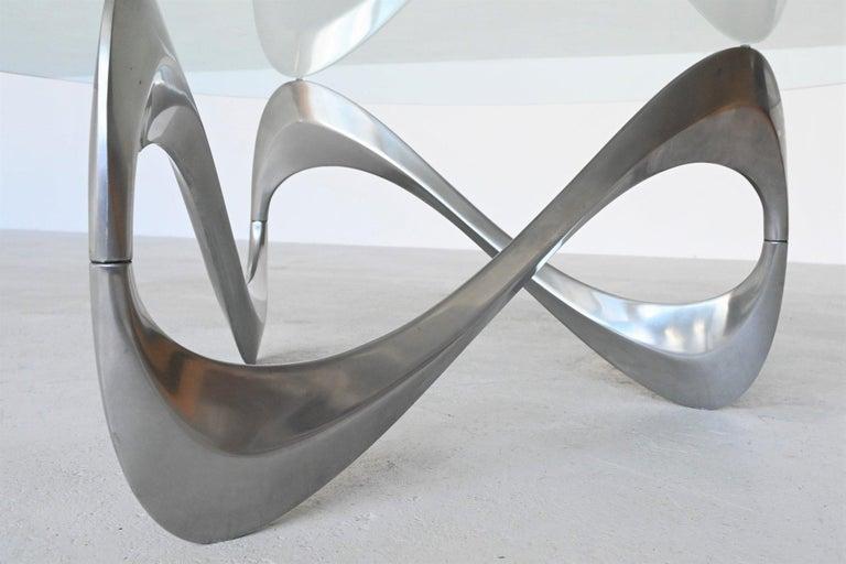 Mid-20th Century Knut Hesterberg Snake Coffee Table Ronald Schmitt, Germany, 1965