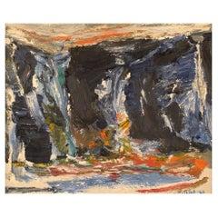 Knut Yngve Dahlbäck, Sweden, Oil on Canvas, Abstract Composition