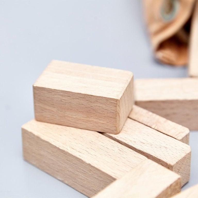 Ko Verzuu for Ado, Mid Century Modern, Wood Blocks Construction Netherlands Toy  For Sale 3