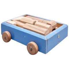Ko Verzuu for Ado, Mid-Century Modern, Wood Car Construction Netherlands Toy