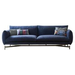 Koa Blue Sofa by Angeletti Ruzza