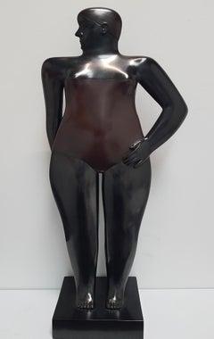 Baadster Bathing Woman Swimmer Bronze Sculpture In Stock