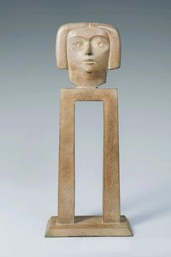 Mijmering Reverie Bronze Sculpture Head In Stock
