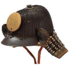 Koboshi Kabuto Samurai Helmet with Standing Rivets, Haruta School