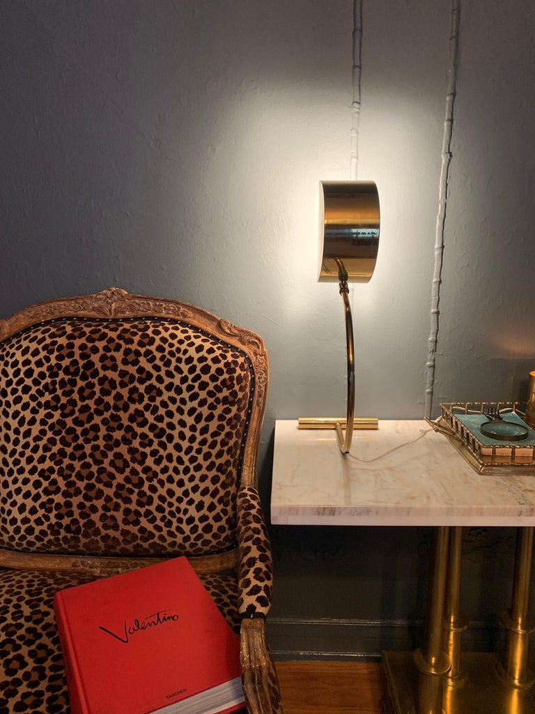Mid-Century Modern Koch and Lowy Brass Mid Century Table Desk Lamp For Sale