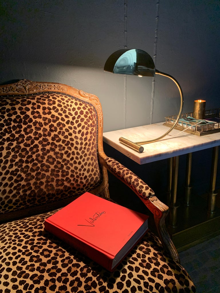 20th Century Koch and Lowy Brass Mid Century Table Desk Lamp For Sale