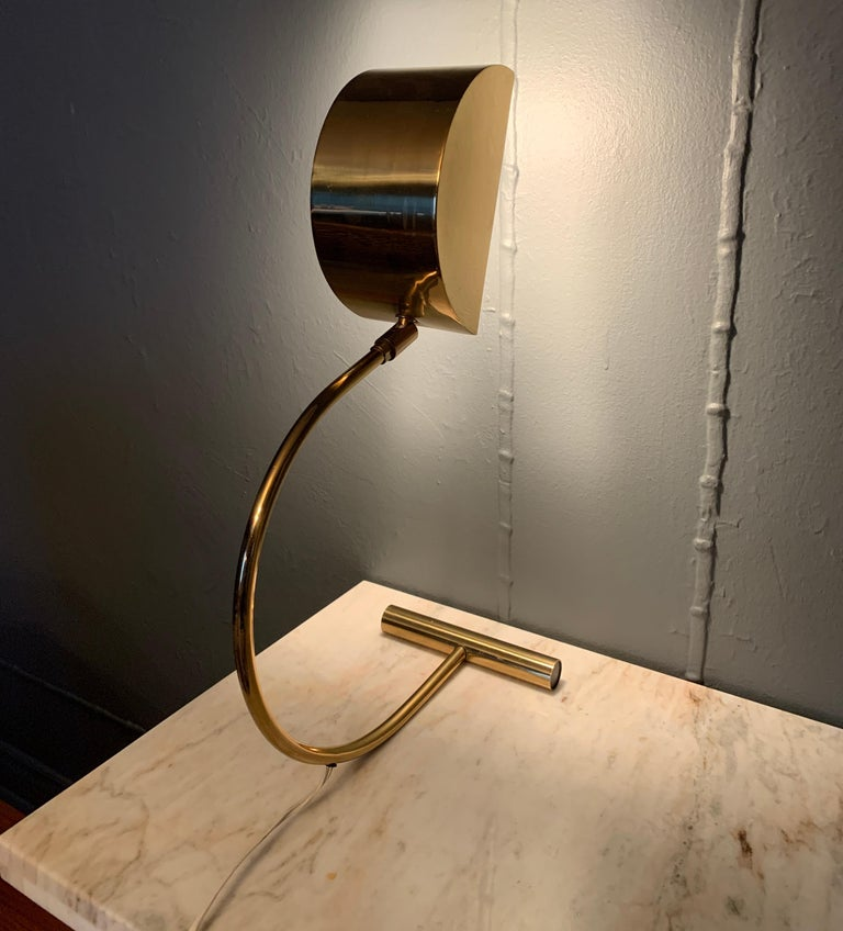 Koch and Lowy Brass Mid Century Table Desk Lamp For Sale 1