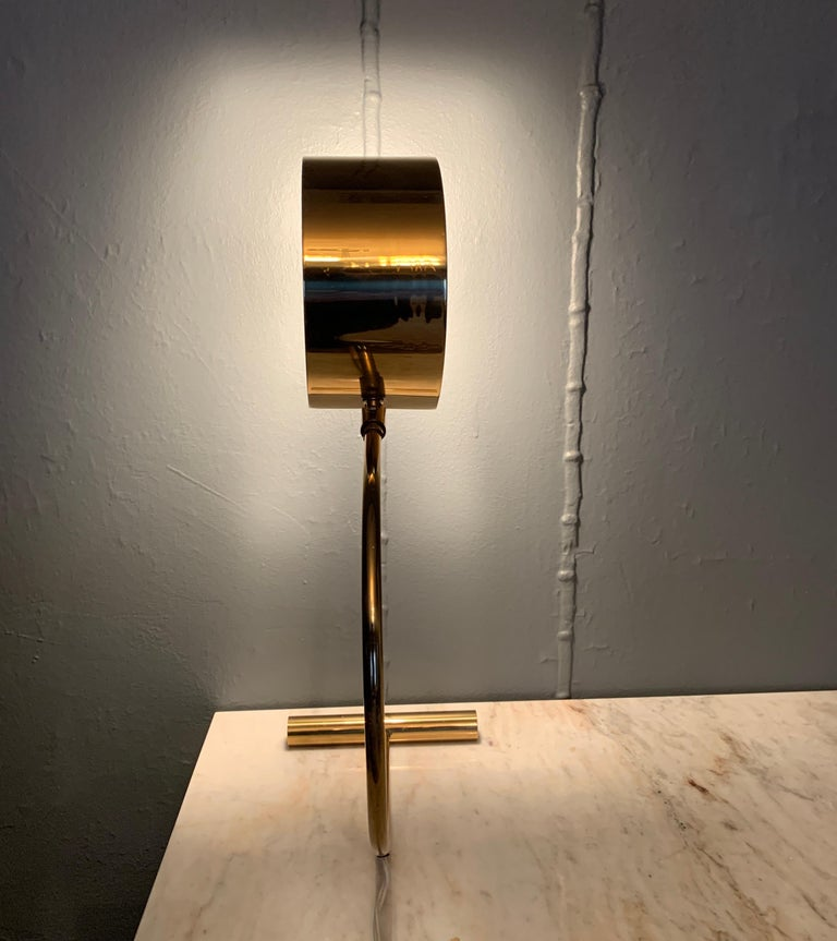 Koch and Lowy Brass Mid Century Table Desk Lamp For Sale 2