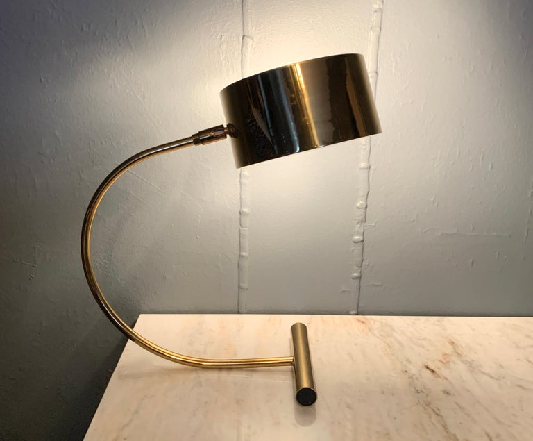 Koch and Lowy Brass Mid Century Table Desk Lamp For Sale 3