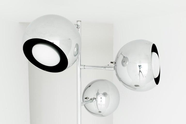 Koch And Lowy Chrome Eyeball Globe Floor Lamp At 1stdibs