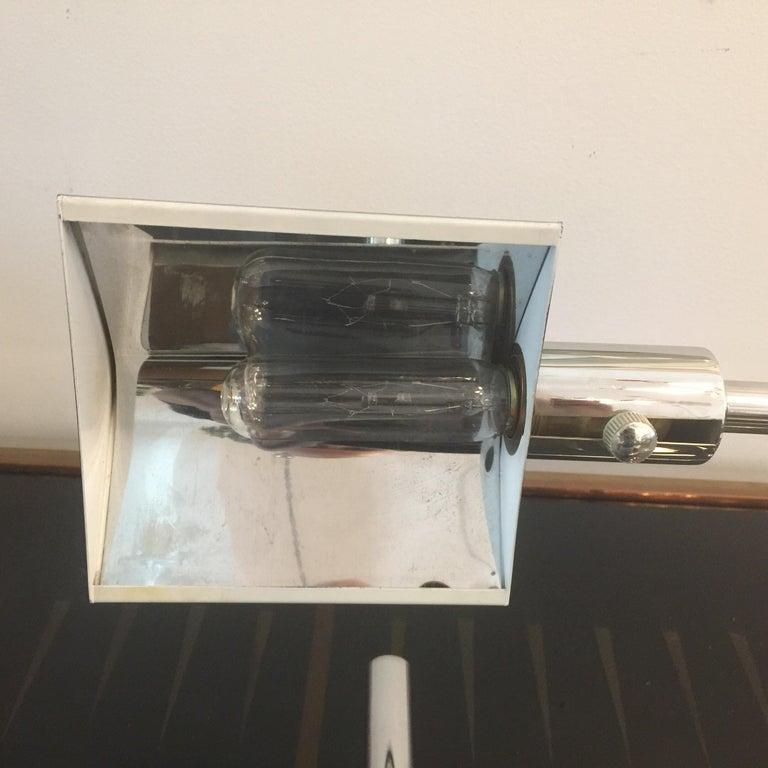 German Koch & Lowy Chromed Articulating Desk Lamp For Sale