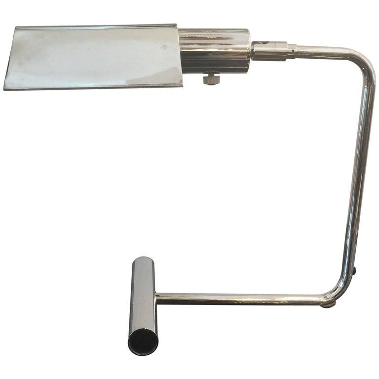 Koch & Lowy Chromed Articulating Desk Lamp For Sale