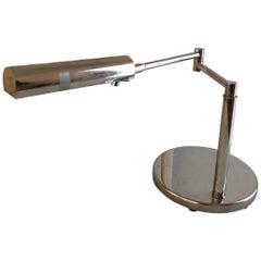 Koch & Lowy Polished Chrome Articulating Desk Light