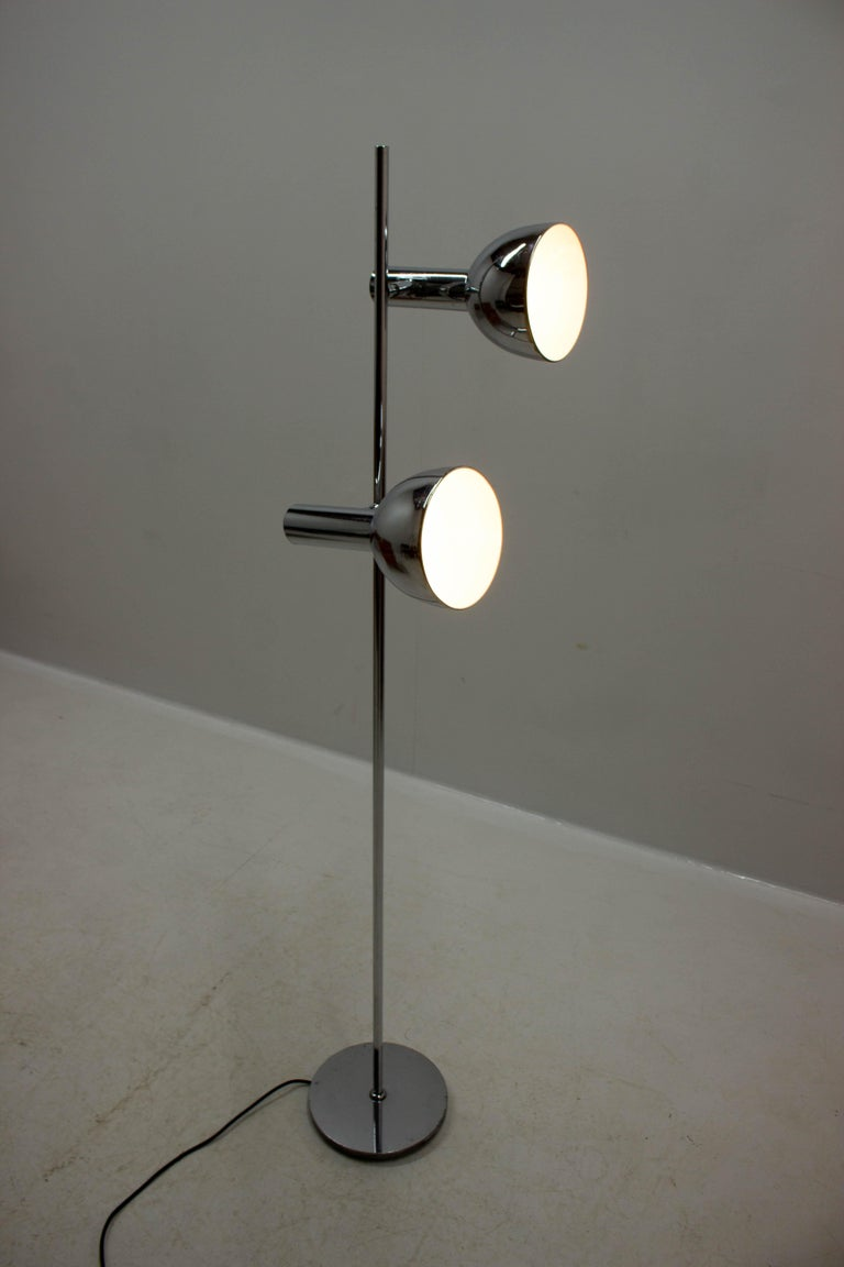 Koch & Lowy Style Floor Lamp with Two Shades, Germany, 1970s For Sale 10