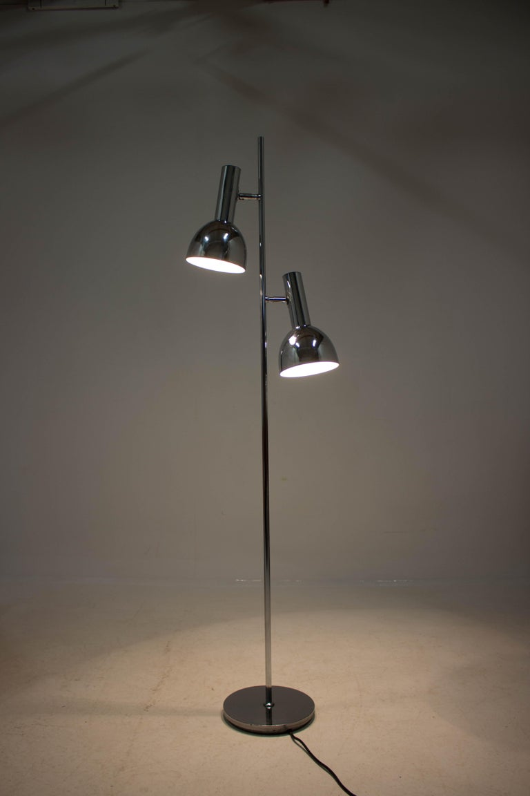 Koch & Lowy Style Floor Lamp with Two Shades, Germany, 1970s For Sale 1