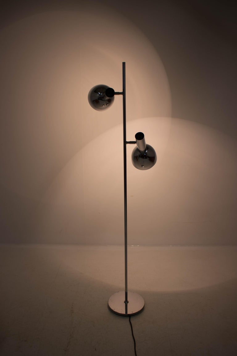 Koch & Lowy Style Floor Lamp with Two Shades, Germany, 1970s For Sale 3