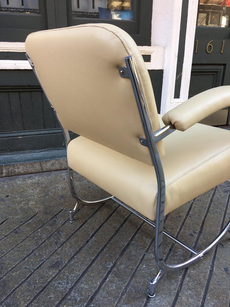 Leather Kochs Chrome Chair For Sale
