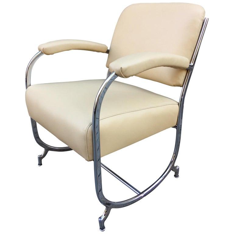 Kochs Chrome Chair For Sale