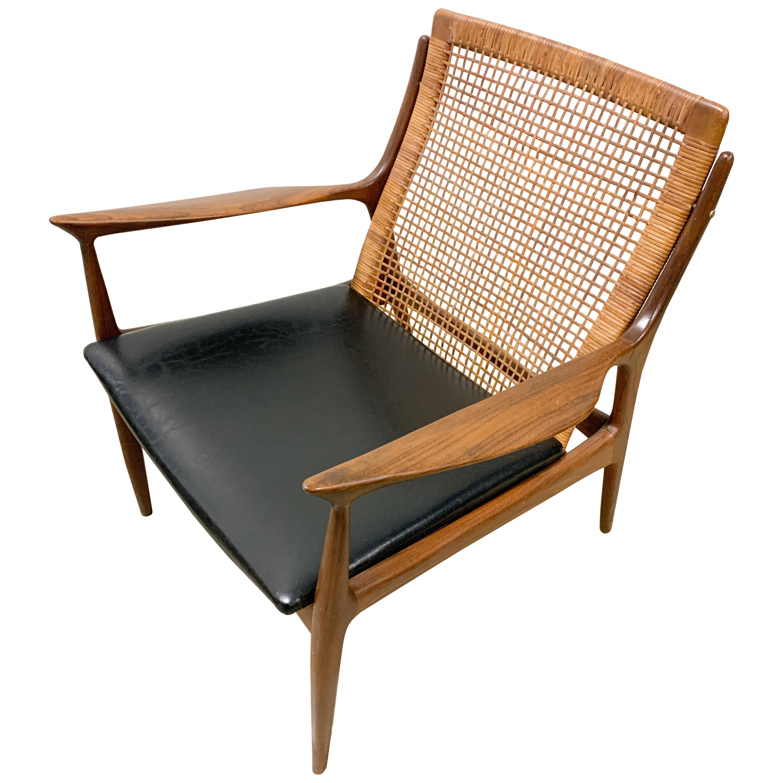 Kofod Larsen Danish Modern Cane Back Chair