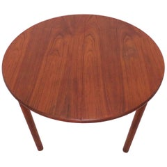 Kofod-Larsen Danish Teak and Padouk Dining Table with Butterfly Leaf