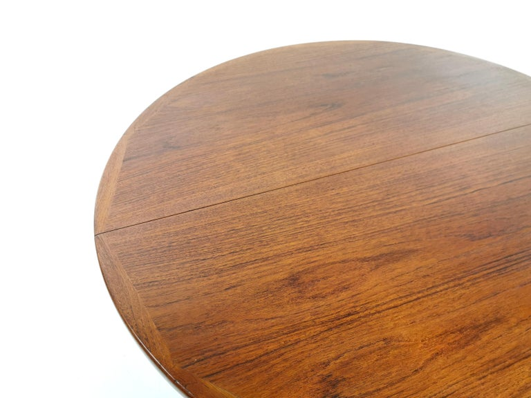 Mid-Century Modern Kofod Larsen For Faarup Teak 1960s Dining Table For Sale