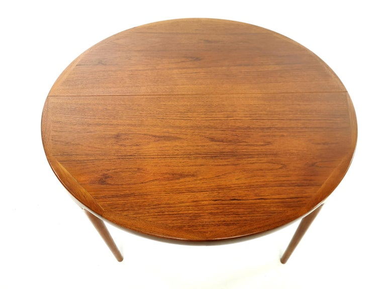 Danish Kofod Larsen For Faarup Teak 1960s Dining Table For Sale