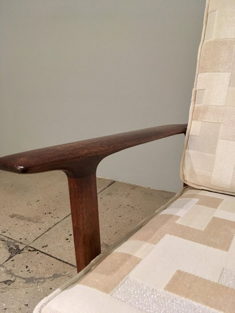Kofod Larsen High Back Lounge Chair Danish, 1960s For Sale 5