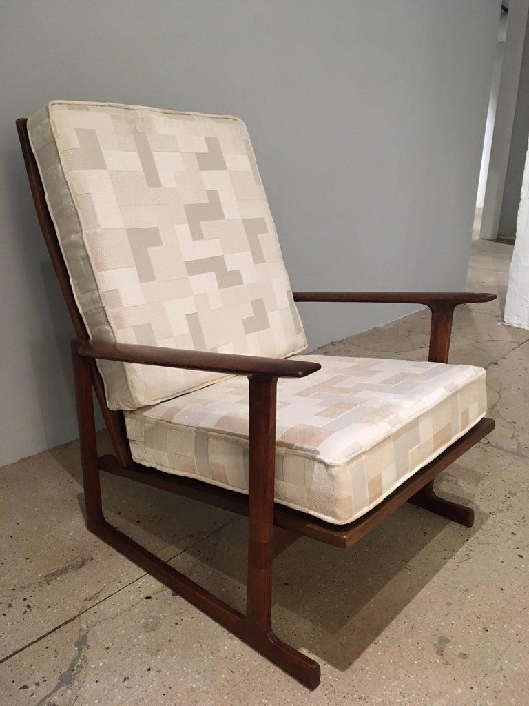 Mid-Century Modern Kofod Larsen High Back Lounge Chair Danish, 1960s For Sale