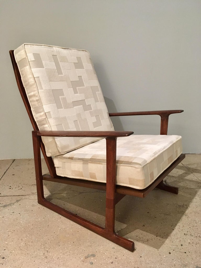 Kofod Larsen High Back Lounge Chair Danish, 1960s In Good Condition For Sale In New York, NY