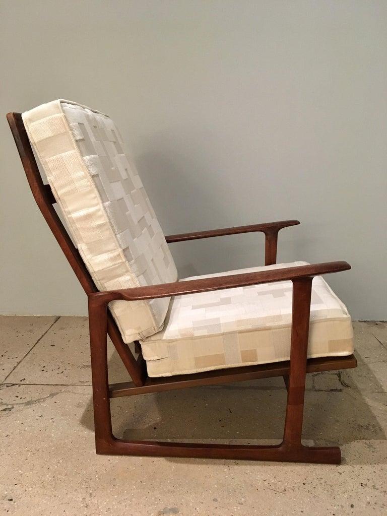 Kofod Larsen High Back Lounge Chair Danish, 1960s For Sale 1