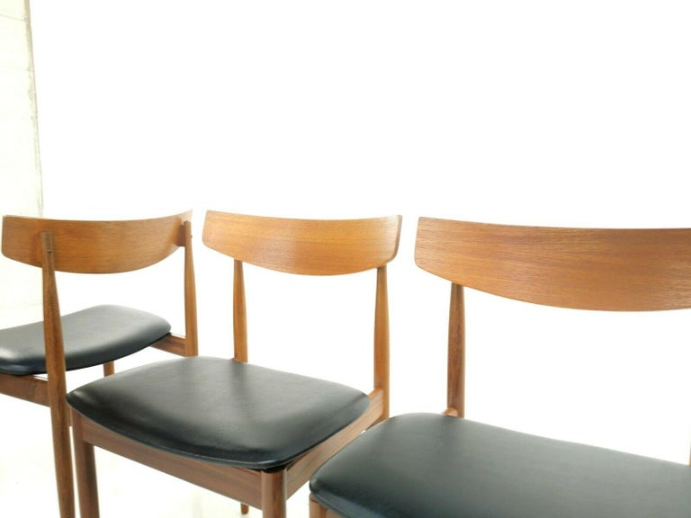British Kofod Larsen Teak G Plan Danish Dining Chairs 1960s Vintage Midcentury Set of 4