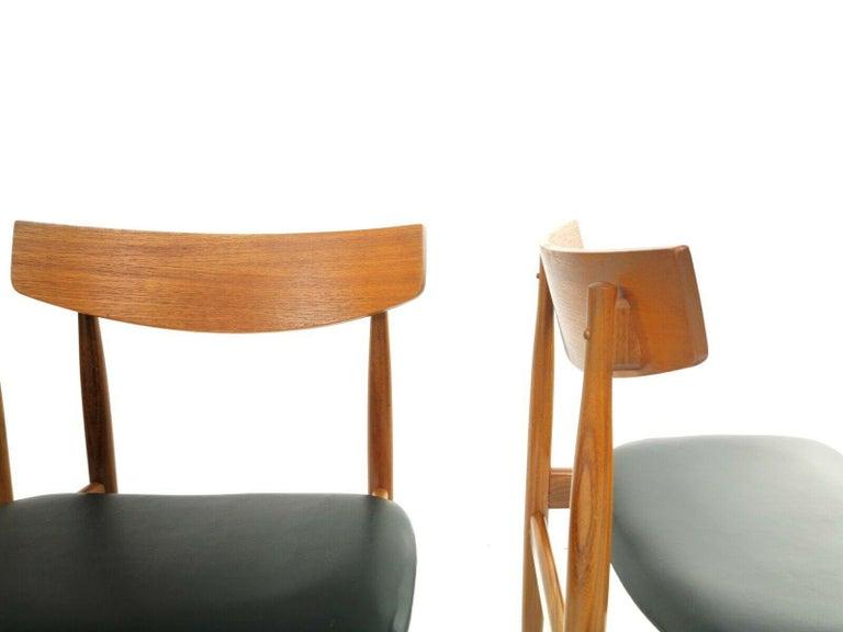 Kofod Larsen Teak G Plan Danish Dining Chairs 1960s Vintage Midcentury Set of 4 In Good Condition In STOKE ON TRENT, GB