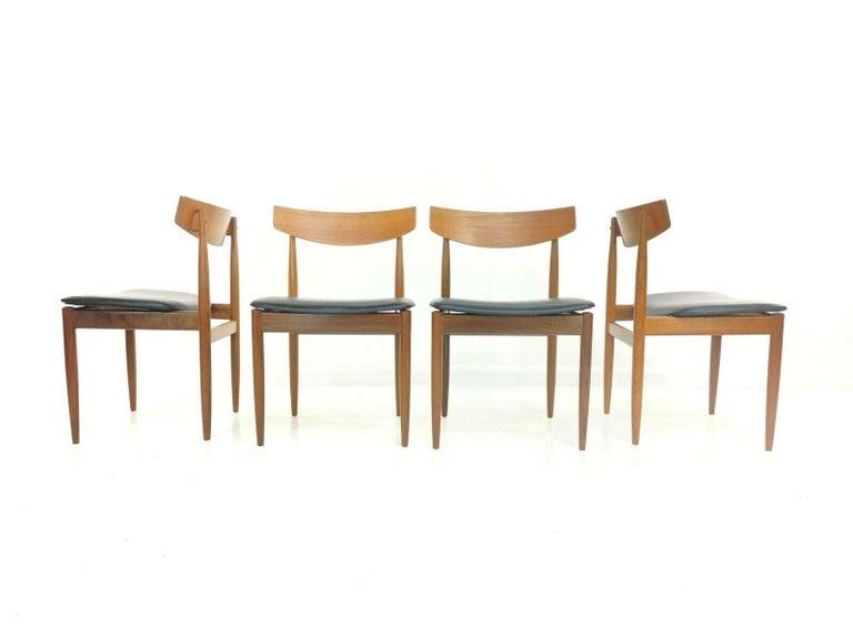 20th Century Kofod Larsen Teak G Plan Danish Dining Chairs 1960s Vintage Midcentury Set of 4