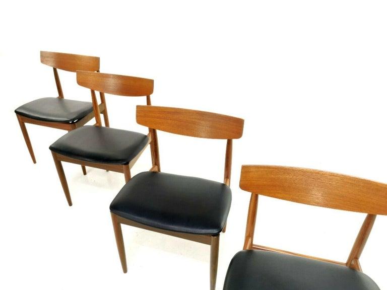 Kofod Larsen Teak G Plan Danish Dining Chairs 1960s Vintage Midcentury Set of 4 1