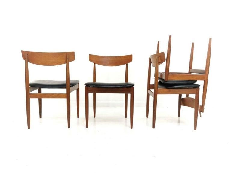 Kofod Larsen Teak G Plan Danish Dining Chairs 1960s Vintage Midcentury Set of 4 2