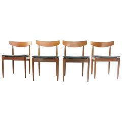 Kofod Larsen Teak G Plan Danish Dining Chairs 1960s Vintage Midcentury Set of 4