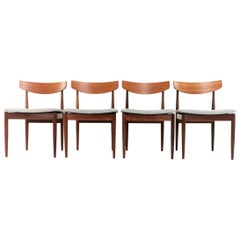 Kofod Larsen Teak G Plan Danish Dining Chairs 1960s Vintage Midcentury Set of 4
