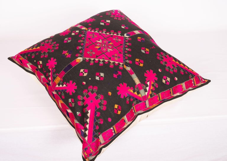 Kohistan Silk Embroidery Pillow Case, Early 20th Century For Sale 1