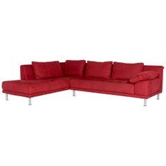Koinor Amaretta Fabric Corner Sofa Red Sofa Couch