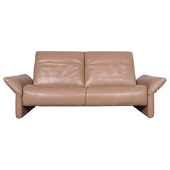 Koinor Elena Designer Leather Sofa Beige Genuine Leather Three-Seat Couch