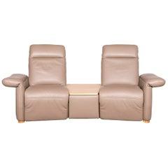 Koinor Elena Designer Leather Sofa Beige Two-Seat Genuine Leather