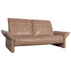 Koinor Elena Designer Leather Sofa Set Beige Genuine Leather Two-Seat
