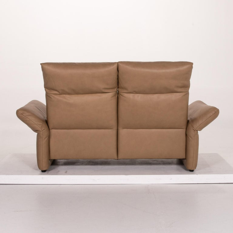 Koinor Elena Leather Sofa Brown Two-Seat Function Couch For Sale 6